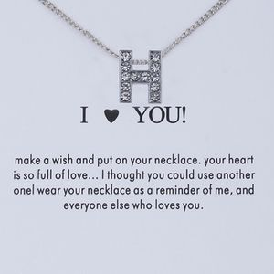 Letter 'H' Silver Monogram Initial Necklace